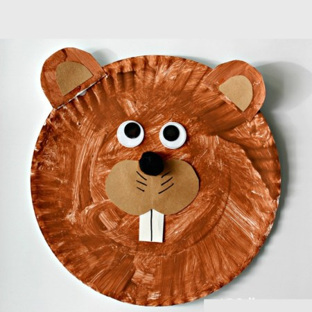 Groundhog Paper Plate Craft