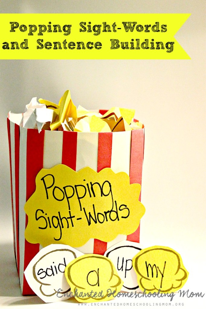 Popping Sight-Words and Sentence Building