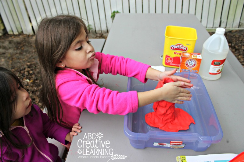 To the Laboratory Volcano Eruption Science Experiment! Using Playdough