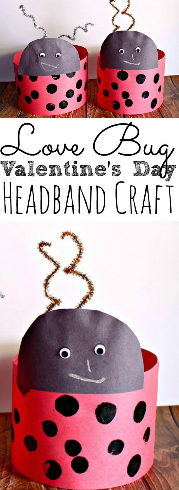Valenitine's Day Lady Bug Headband Craft for Kids
