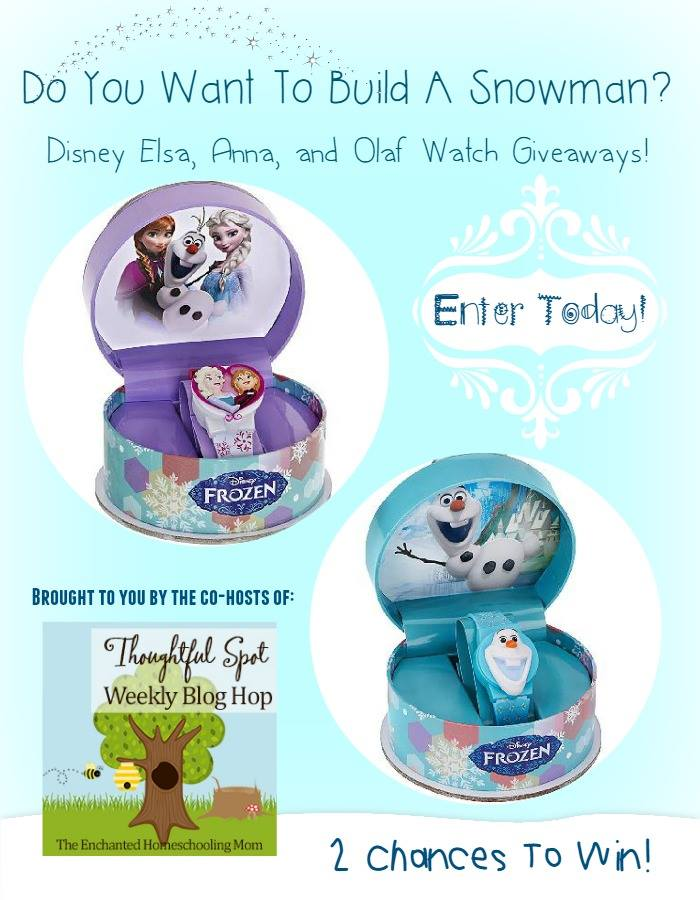 Do You Want To Build A Snowman? Win a Disney Elsa/Anna or Olaf Watch!