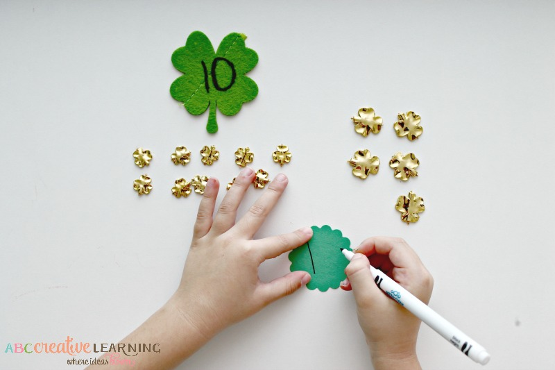 Shamrock Place Value - Tens and Ones Writing Answer