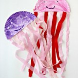 Easy Paper Plate Jelly Fish Kids Craft
