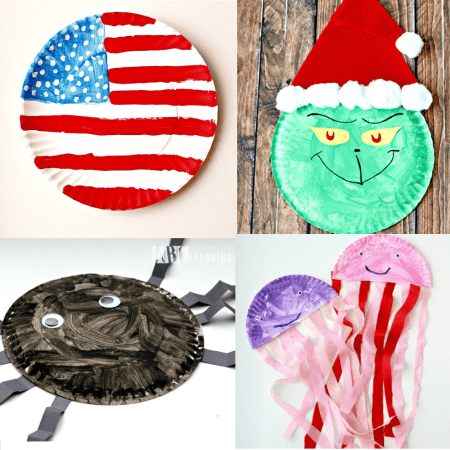 Paper Plate Crafts To Do Year Round - Animals, holidays, and more!