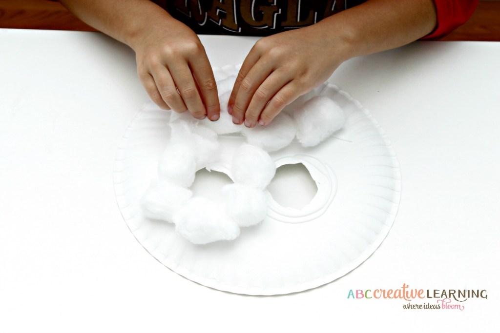 Paper Plate Lamb Mask Craft Face Mask