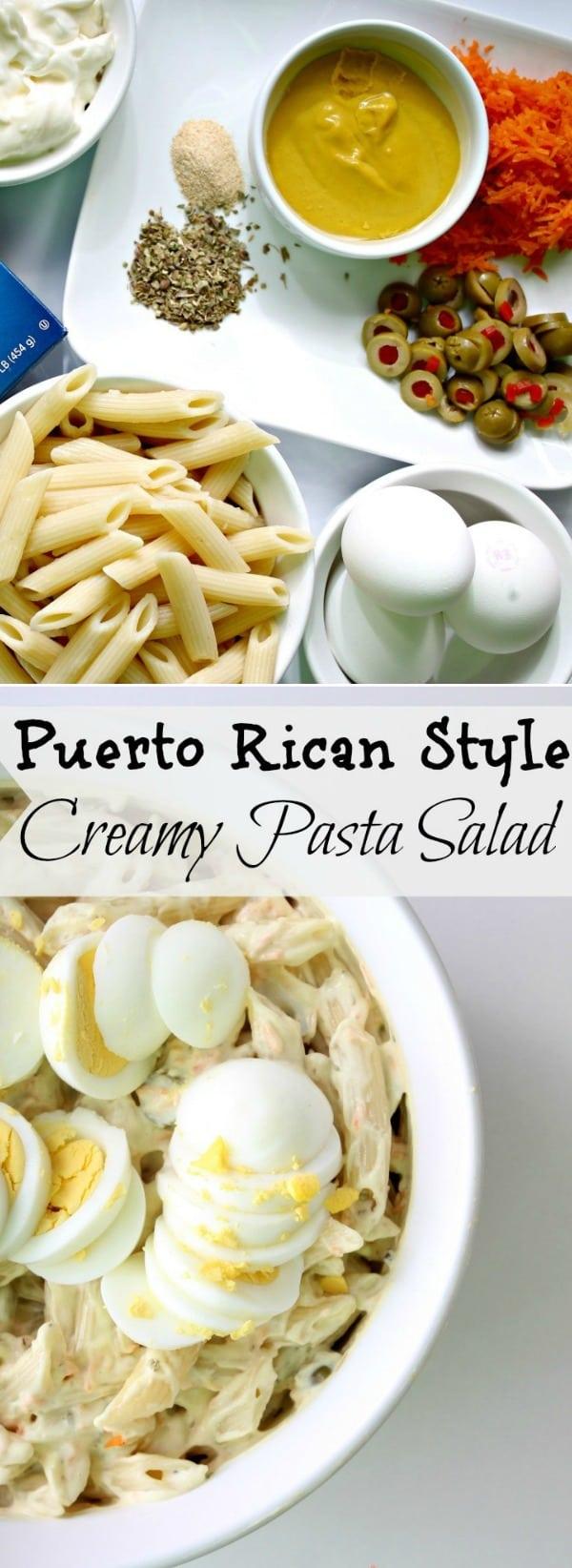Puerto Rican Style Creamy Pasta Salad