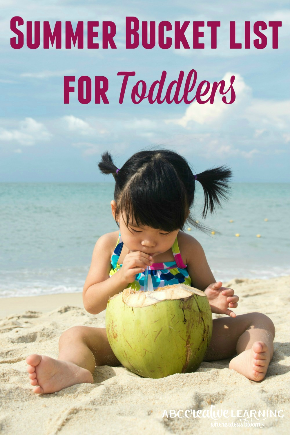 Summer Bucket List for Toddlers is the perfect list to keep your little ones busy all summer long! No more boring times or figuring out what to do next!