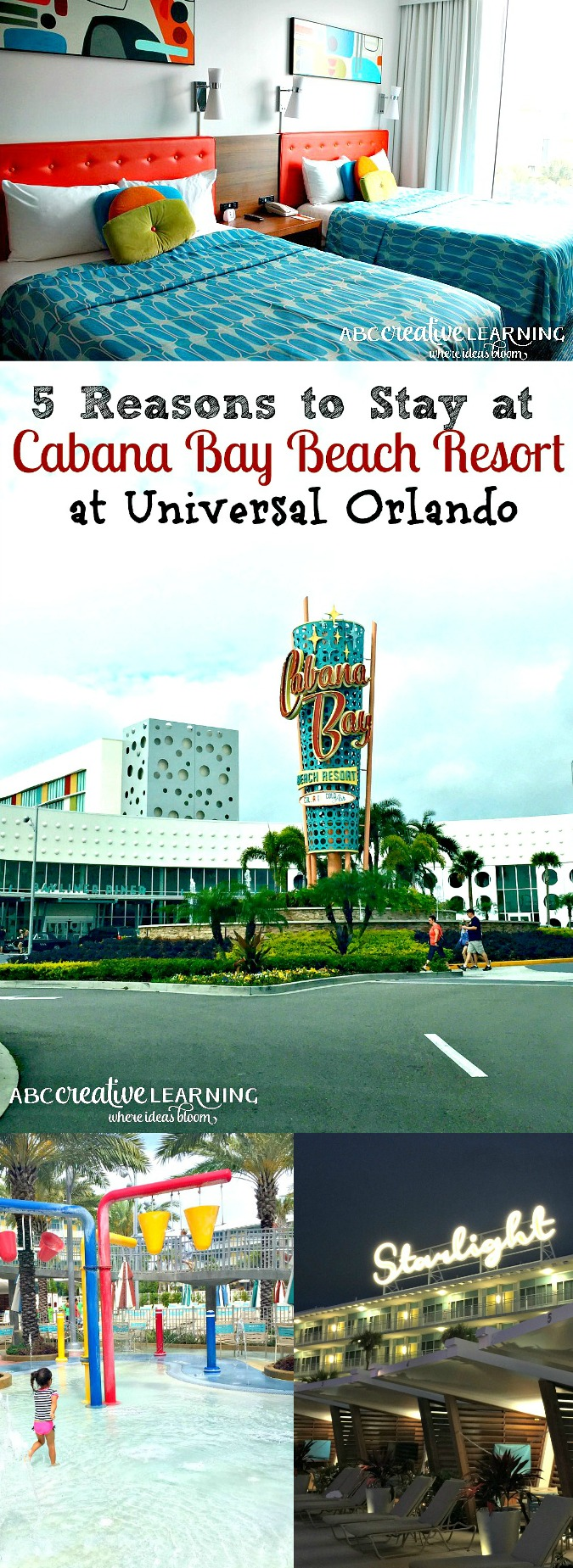 5 Reasons to Stay at Cabana Bay Beach Resort at Universal Orlando Resorts Florida - simplytodaylife.com