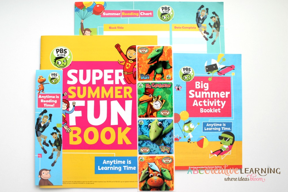 Dino Train DVD and PBS Super Summer Fun Kit Giveaway Items