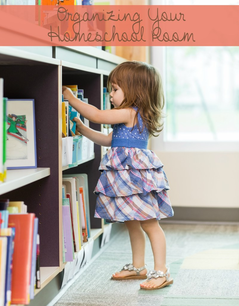 Keeping an organized homeschooling room it important for helping daily lessons run smoothly. Especially with younger children. Here are a few tips to help you with Organizing Your Homeschool Room. - abccreativelearning.com
