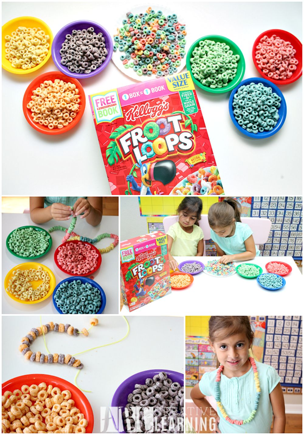 Importance of Reading and Creating a Monthly Book Basket Fruit Loop Necklace
