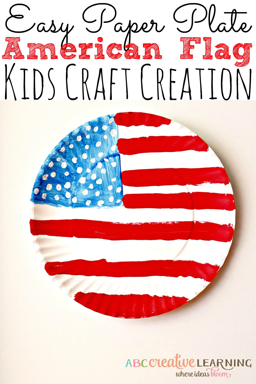 Easy Paper Plate American Flag Craft Celebrating 4th Of July