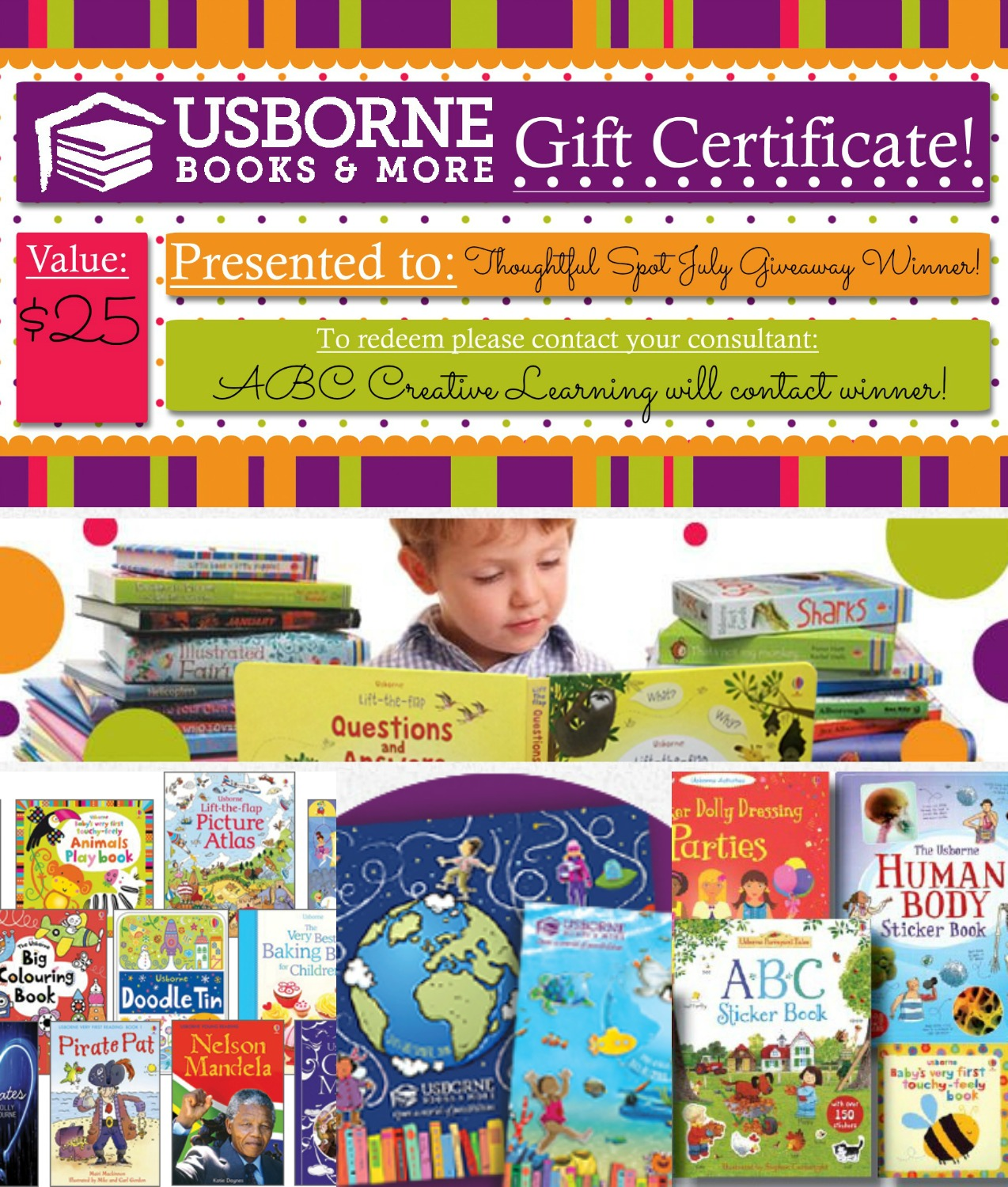 Thoughtful Spot Weekly Blog Hop Reading Giveaway from ABC Creative Learning