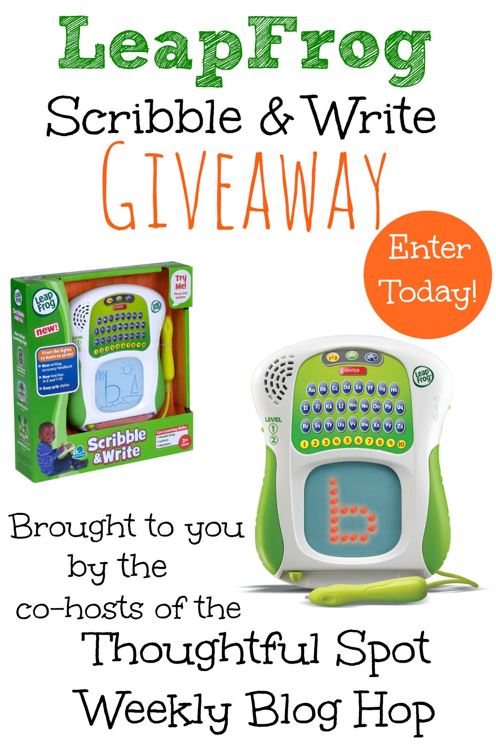 Thoughtful Spot Weekly Blog Hop Leap Frog Scribble & Write Giveaway