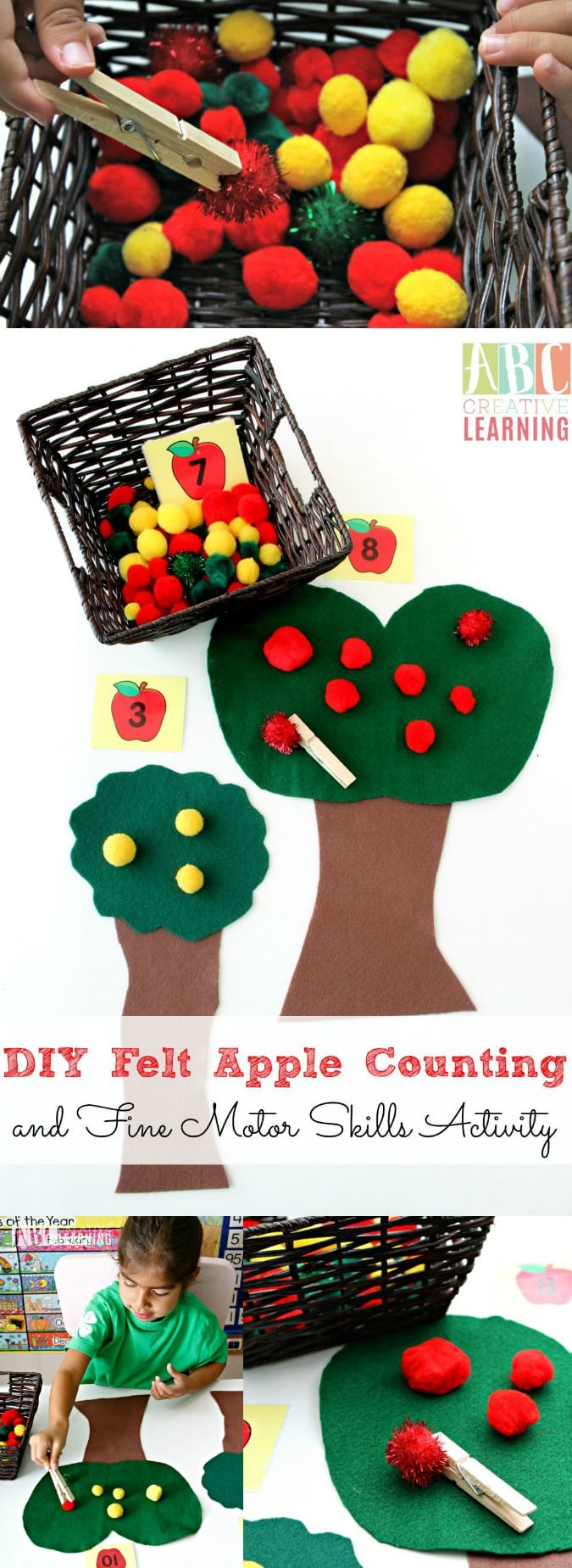 Apple Counting and Fine Motor Skills Activity