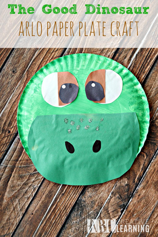 The Good Dinosaur Arlo Paper Plate Craft - simplytodaylife.com