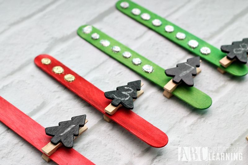 Christmas Tree Counting Activity pins