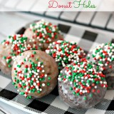 Gingerbread and Chocolate Glazed Donut Holes
