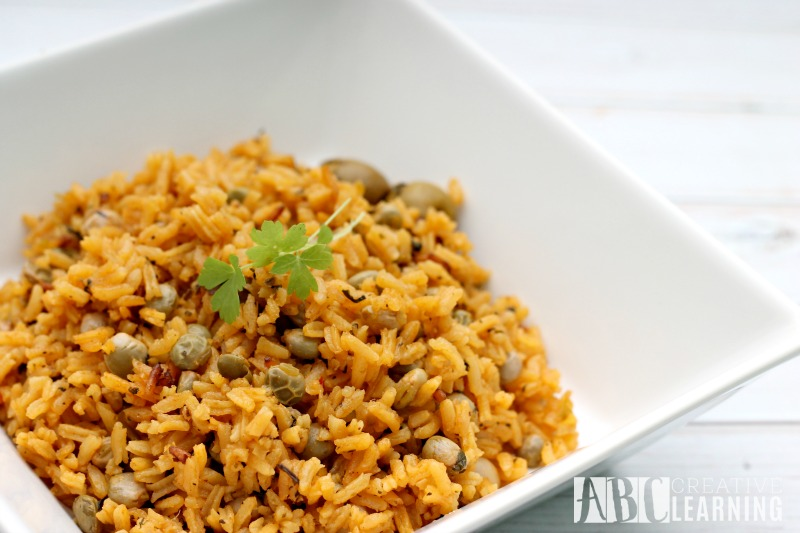 Traditional Arroz con Gandules for the Holidays Rice