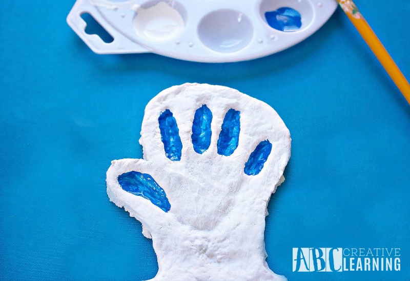 Dr. Seuss Inspired Thing 1 Or Thing 2 Salt Dough Handprint 2