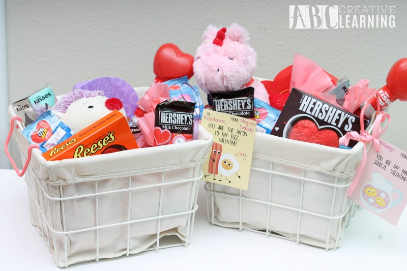 Valentine Basket for Kids and Free Valentine Card Printable Basket