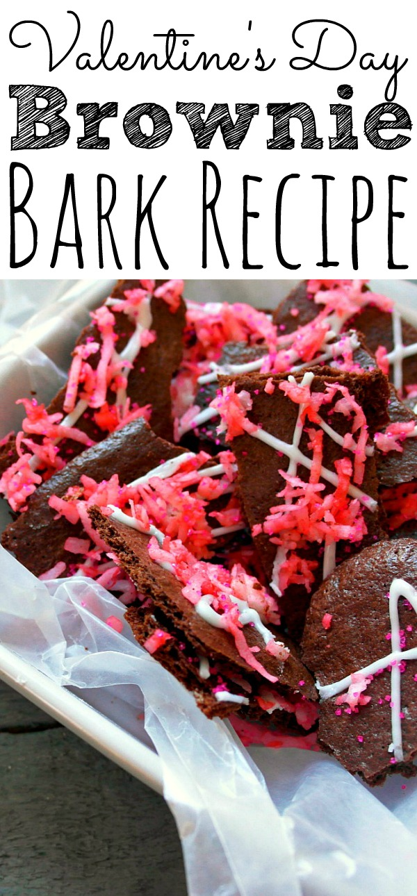 Valentines Day Brownie Bark
