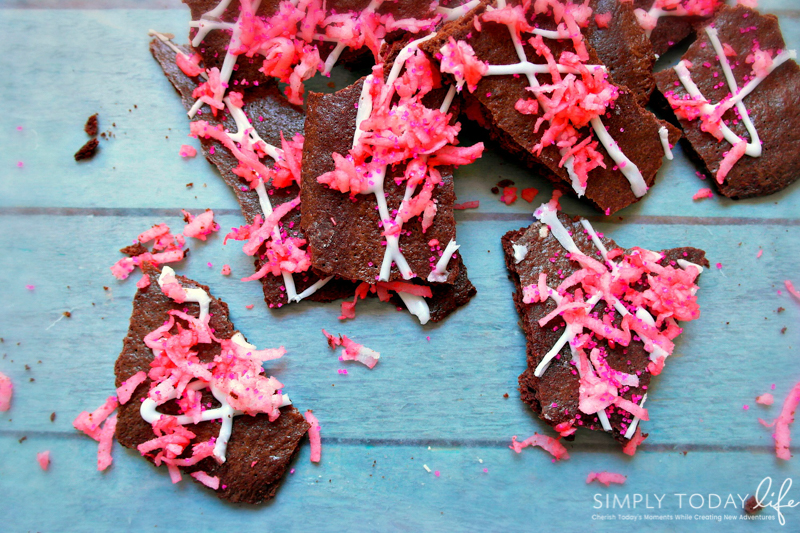 Valentine's Day Brownie Bark