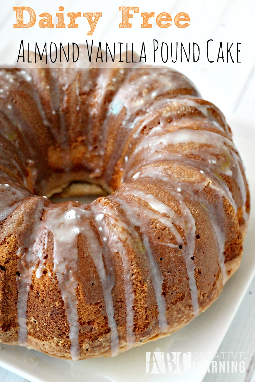 Dairy Free Almond Vanilla Pound Cake