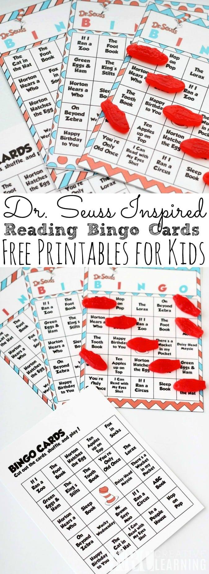 Dr. Seuss Bingo Cards
