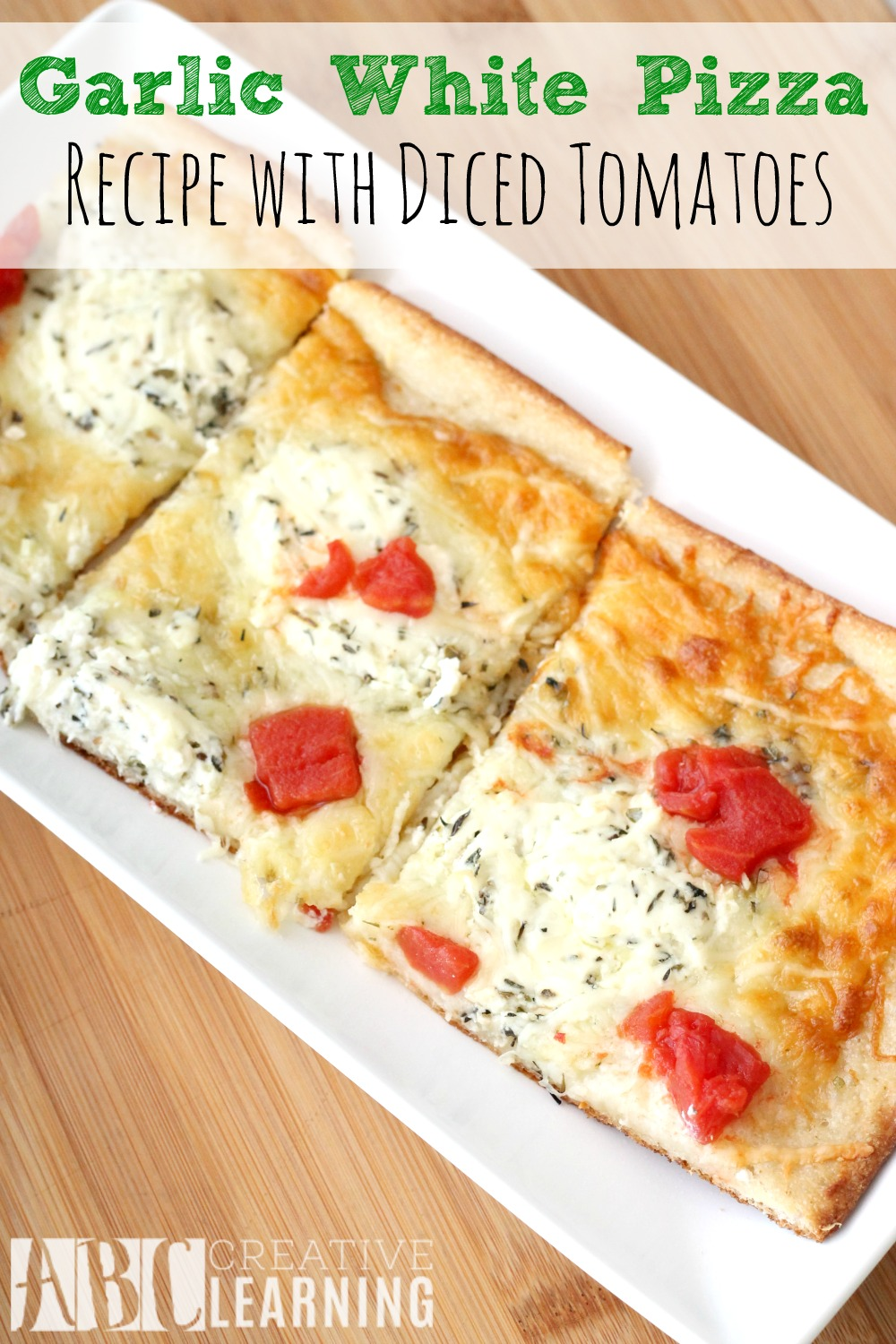 Garlic White Pizza Recipe with Diced Tomatoes + Paypal Giveaway