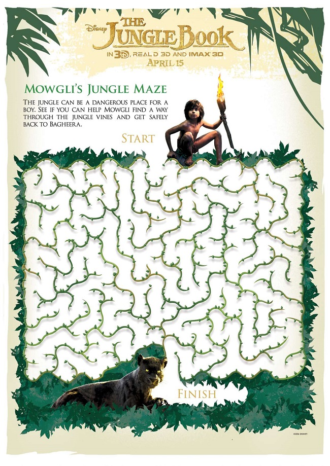 Disney's The Jungle Book Activity Sheets #JungleBook Maze