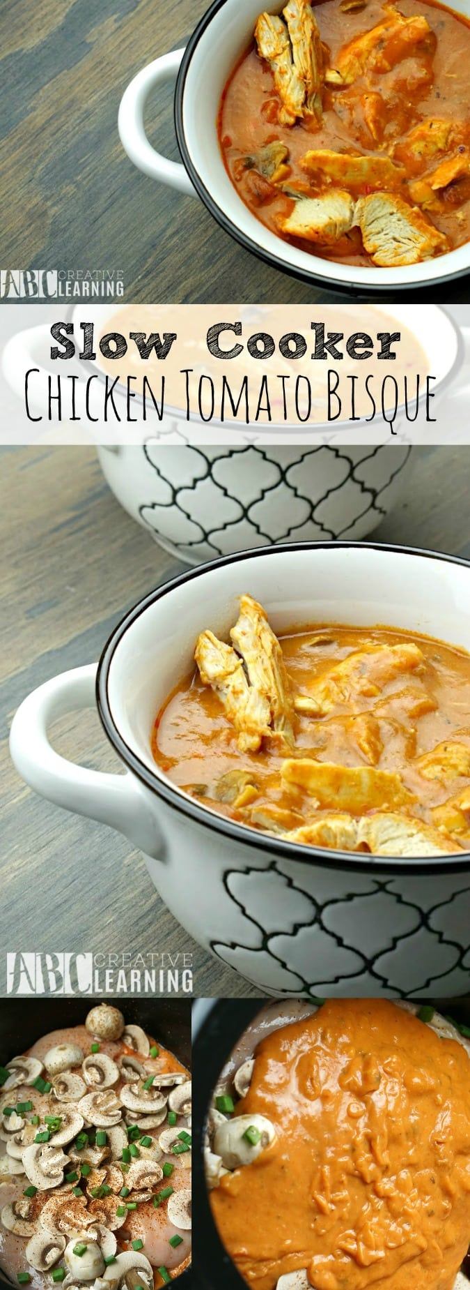 Slow Cooker Chicken Tomato Bisque Soup