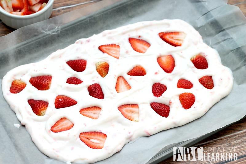 Valentine's Day Yogurt Strawberry Bark Recipe
