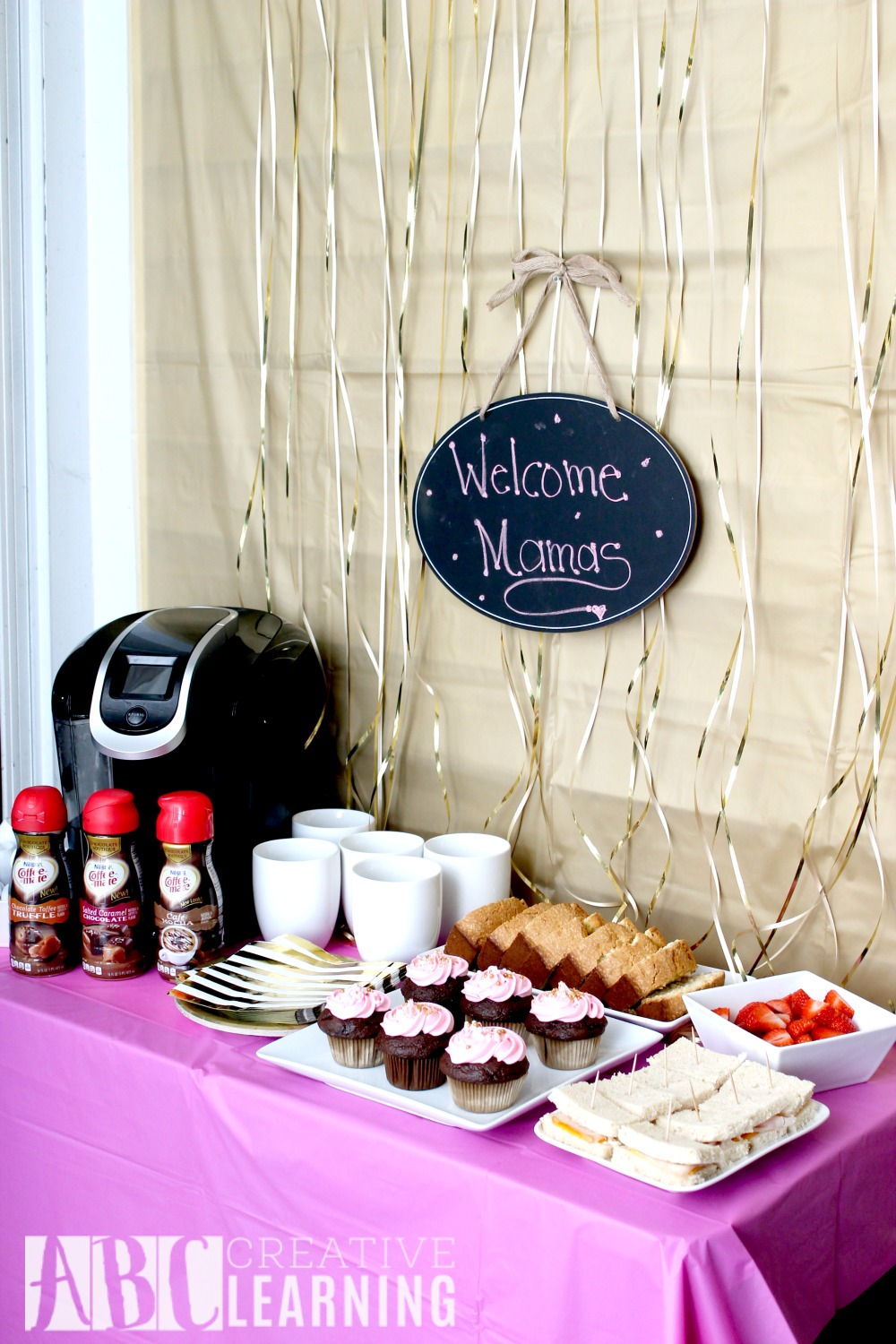 A Party Break For Moms set up