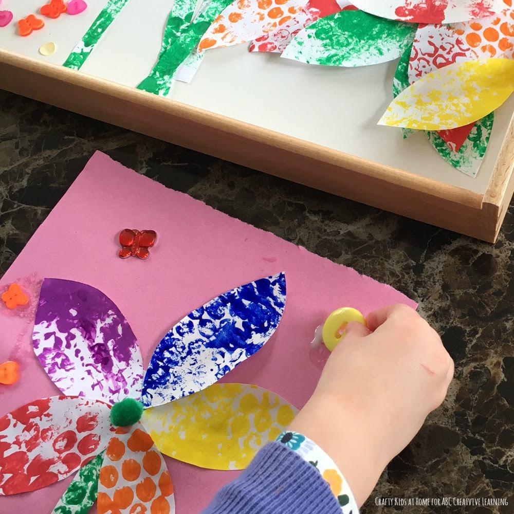 Bubble Wrap Flower Craft 1