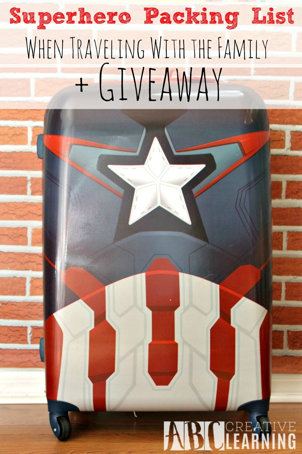 Superhero Packing List When Traveling With The Family + Giveaway