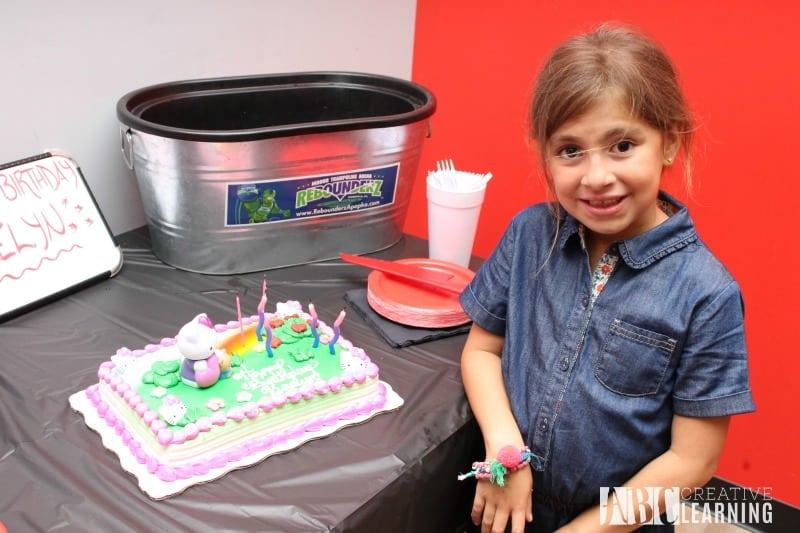 Birthday Fun Celebration at Rebounderz Apopka cake