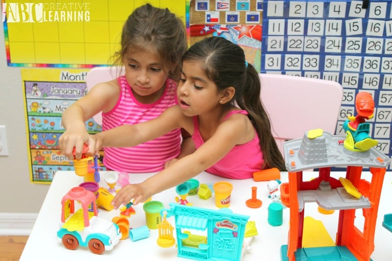 Lasting Imagination and Storytelling with Play-Doh sisters