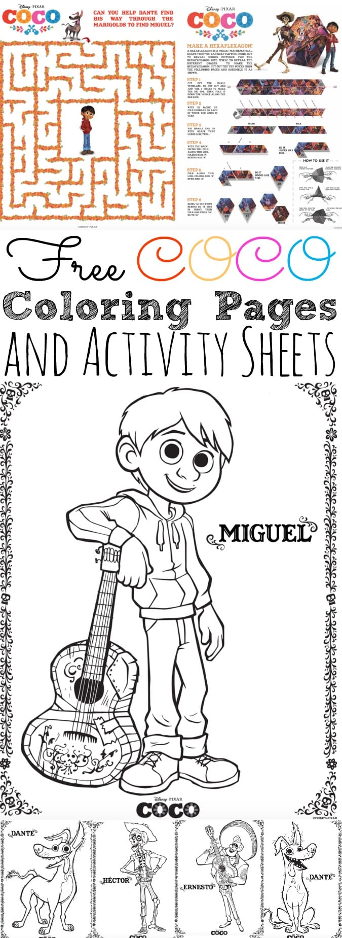 Free Coco Coloring Pages