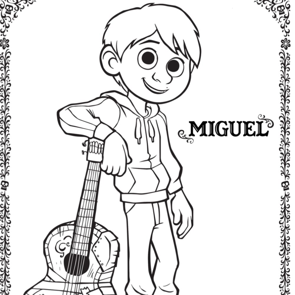 Free COCO Coloring Pages And Activity Sheets