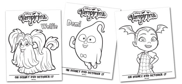 Free Vampirina Coloring Pages and Activity Sheets To