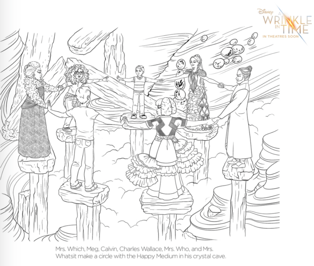 Free A Wrinkle In Time Coloring Pages And Activity Sheets