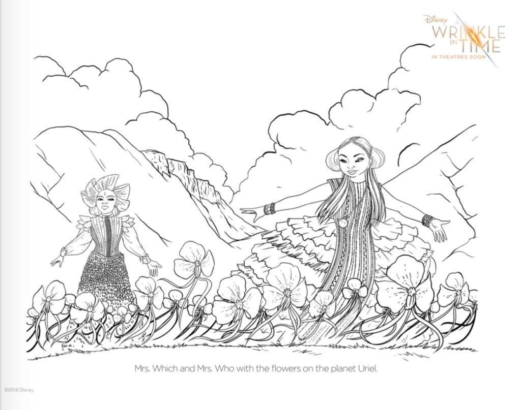 A Wrinkle In Time The Mrs Coloring Pages