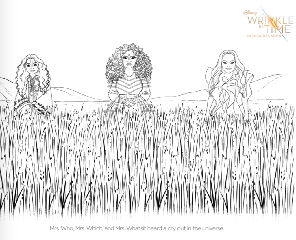 The Mrs A Wrinkle In Time Coloring Pages - simplytodaylife.com