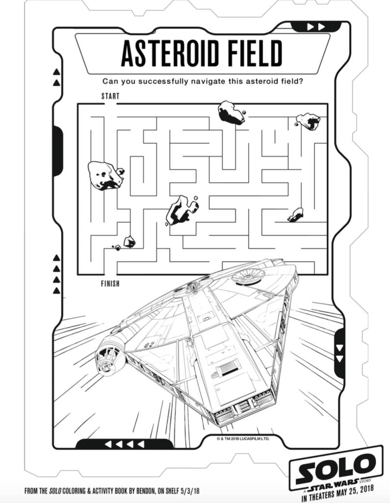 Solo A Star Wars Story Asteroid Field Maze
