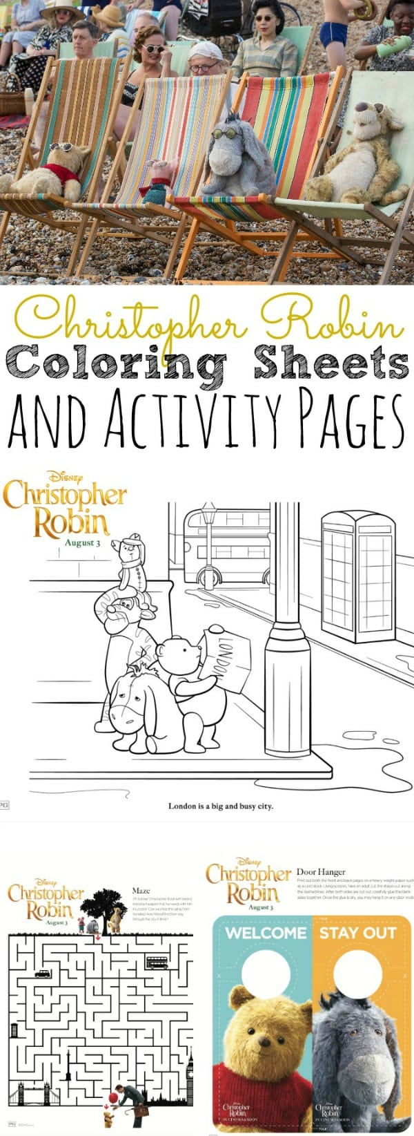Free Christopher Robin Coloring Pages and Activity Sheets - simplytodaylife.com