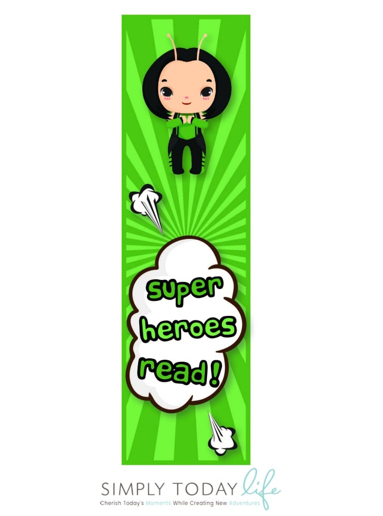 Free Avengers Infinity War Bookmarks for kids Mantas