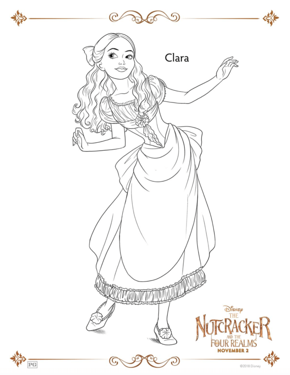 Clara The Nutcracker Coloring Sheets