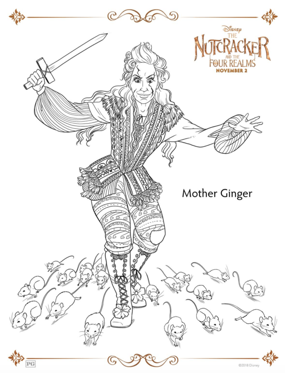 Mother Ginger The Nutcracker Coloring Page