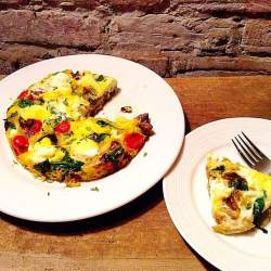 Vegetable and ricotta frittata